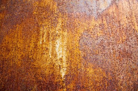 Texture of rusty iron. Background and texture of rusty on iron with vintage color and vintage style. Texture of rusty with drip on steel wall background photo