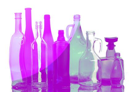 botellas vacias: Textura de botellas vac�as Foto de archivo