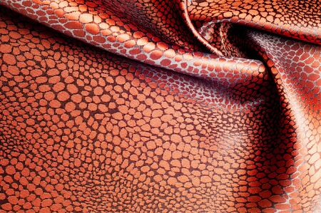 texture silk cloth. brown patterned photo