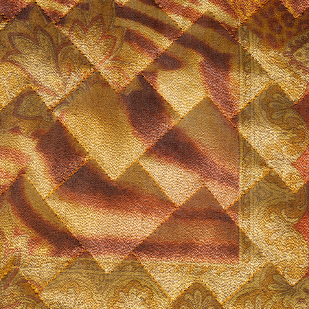 quilted: Fabric texture silk black.  abstraction. The texture of the fabric cloth quilted jackets