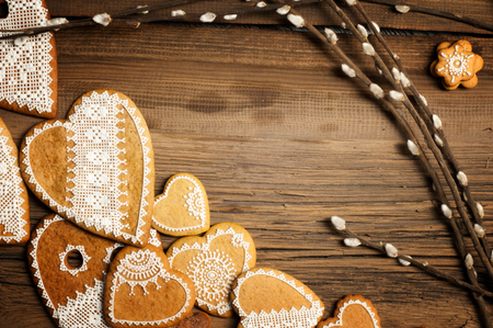 easter cookie: hand-painted cookies. hand painted ginger cookies