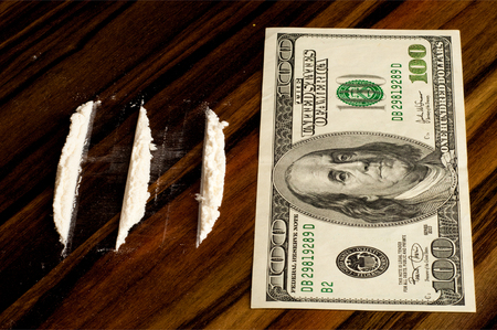 drug trafficking:  a highly addictive analgesic drug derived from morphine