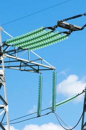 isolator insulator: Texture of high-voltage insulators. Located on the wall energy Stock Photo