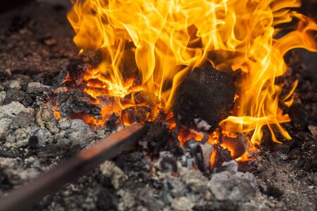 give out: fire. combustion or burning, in which substances combine chemically with oxygen from the air and typically give out bright light, heat, and smoke.