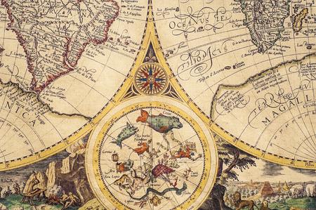 Textur, Hintergrund. Die alten Karten Standard-Bild - 43275991