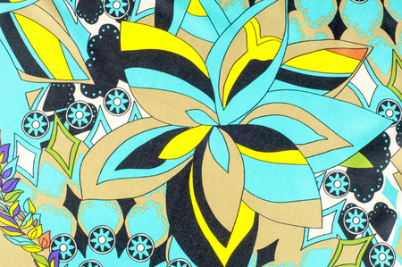 fabric patterns: texture, background, fabric. With floral patterns. blue brown red green and white colors
