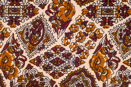 fabric patterns: texture, background, fabric. With floral patterns. brown color
