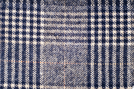 wool texture: texture, background, wool fabric, brown, black checkered Stock Photo