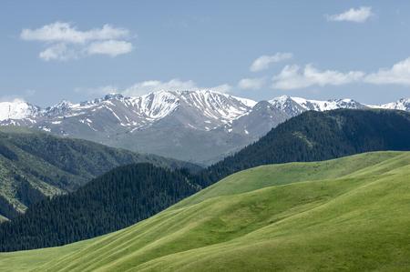 mountain, mount, hill. Kazakhstan. Tien Shan. Assy plateau