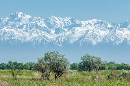 mountain park. Mountains Almaty, Parks first president. Kazakhstan Stock Photo