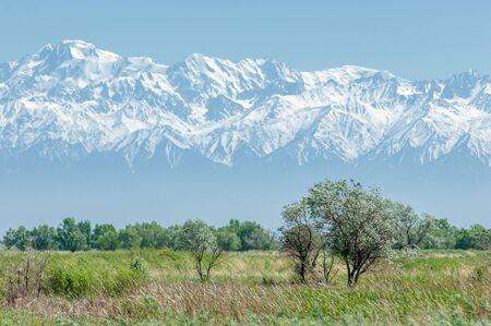 appalachian trail: mountain park. Mountains Almaty, Parks first president. Kazakhstan Stock Photo