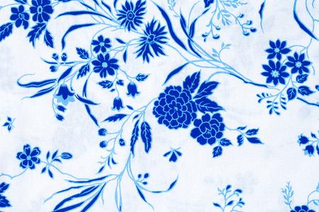 Texture, background, fabric cotton pastel type flower pattern Banco de Imagens