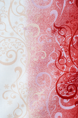 fabric cotton: Texture, background, fabric cotton red white black, frosty drawing