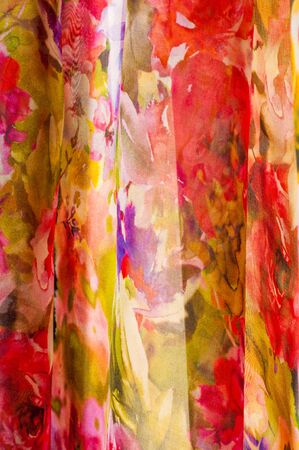 lustrous: Fabric silk texture. abstract painting. bstract wave pattern on silk batik. a fine, strong, soft, lustrous fiber produced by silkworms in making cocoons and collected to make thread