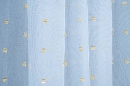 polyester: Silk fabric texture, white with gold accents