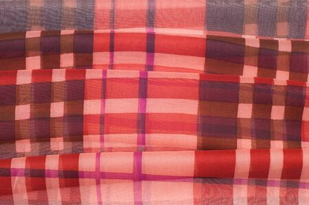 hessian: Silk fabric texture. red cell.   Photography Studio