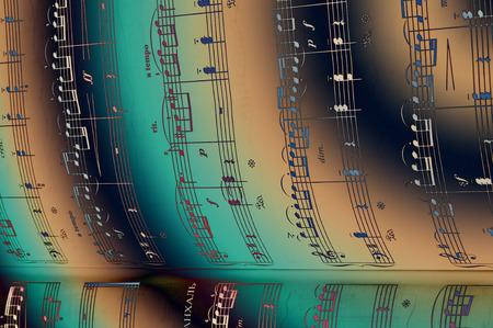 music score: The texture of the music score. Stock Photo