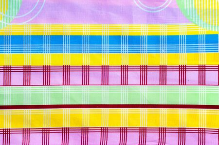 tela algodon: Texture, background. textiles. cotton cloth. colorful geometric patterns. abstraction