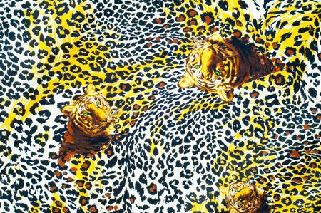 tela algodon: Textura, fondo. textiles. ropa de algod�n. ropa de cama, leopardo