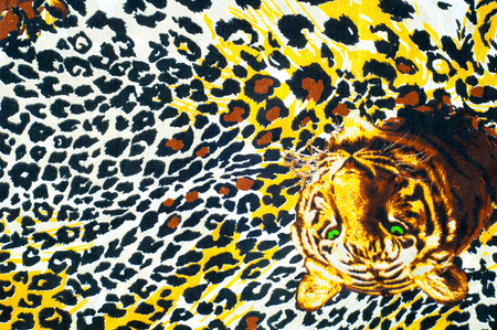 animal in the wild: Texture, background. textiles. cotton cloth. bedding, leopard