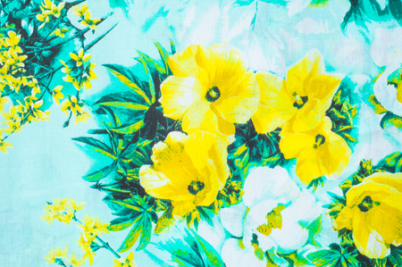 tela algodon: Texture, background. textiles. cotton cloth. linens, yellow flowers