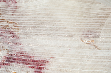 veils: Texture, background. tulle, bobbin-net, bobbin, illusion. a soft, fine silk, cotton, or nylon material like net, used for making veils and dresses. White color with pattern urassnym