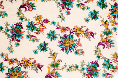 lint: Texture, background. cotton fabric flowers on a beige background. Abstract pattern