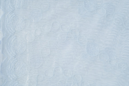 tulle: Tulle, organza, white, patterned balls
