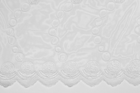 organza: Tulle, organza, white, patterned balls