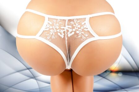 feet naked: Ass of young woman.Sexy woman soft booty, panties. sexy curves girl butt, without cellulite