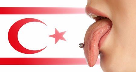 contributing: Tongue. The body in the mouth, which is the organ of taste, while also contributing to the formation of human speech sounds. Turkish flag