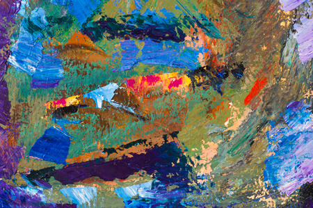 ethnography: Ethnography, M.Sh. Khaziev. Honored Artist of Tatarstan. The picture painted in oils. Abstract pattern