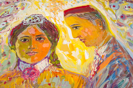 ethnography: Ethnography, M.Sh. Khaziev. Honored Artist of Tatarstan. The picture painted in oils. Young students, the picture painted on Tatar themes Editorial