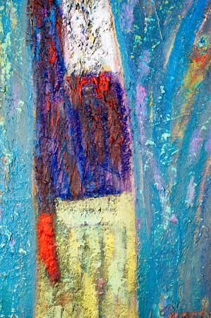 honored: Ethnography, M.Sh. Khaziev. Honored Artist of Tatarstan. The picture painted in oils. Abstract pattern