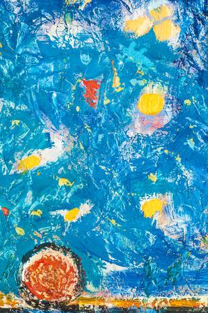 honored: Honored Artist of Tatarstan M. Sh Khaziev. Scenes painted oil paintings. sleep under the moon.