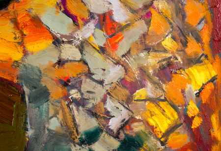 ethnography: Ethnography, M.Sh. Khaziev. The picture painted in oils. abstract drawing. texture. background