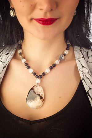 sard: beads made of semiprecious stones