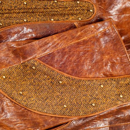chaqueta de cuero: chaqueta de cuero. Fotografía de Estudio