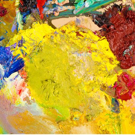 painter's palette: Painters palette . The artists palette Stock Photo