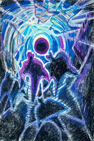 group therapy: a picture drawn with crayons. Flash Light. souls of people seeking the light. People Are People. the spiritual or immaterial part of a human being or animal, regarded as immortal.