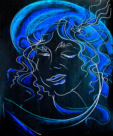 muse: a picture drawn with colored wax crayons. Muse artist. (In Greek and Roman mythology) each of nine goddesses, the daughters of Zeus and Mnemosyne, who preside over the arts and sciences.