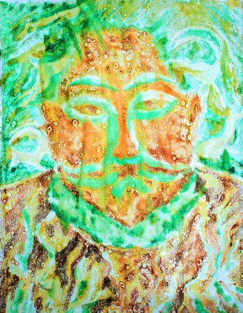 pintura rupestre: Cuadro pintado con pintura al �leo. Pintura rupestre. paredes de las cuevas pintadas por los pueblos antiguos.