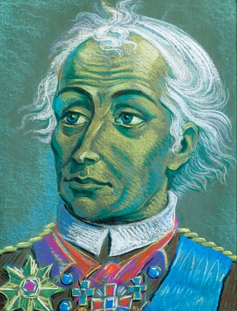 theorist: drawing colored wax crayons. Generalissimo Alexander Suvorov. Rymnik graph. Count of the Holy Roman Empire. Prince of Italy. the greatest generals