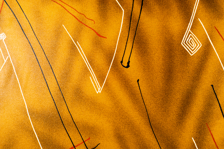Fabric silk texture, brown abstract drawing. photo studio Stock Photo