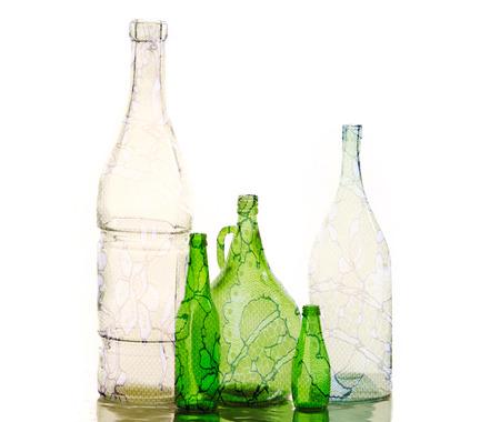 botellas vacias: botellas vacías. Fotos en estudio