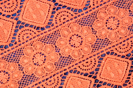 flowered: Red lace fabric texture Photo taken in the studio