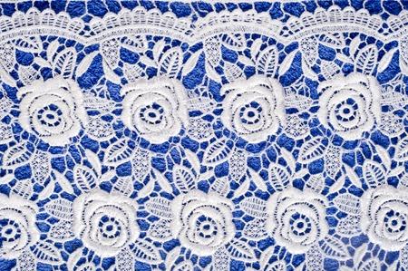 La textura de encaje en la tela. Cordón delgado hermoso Foto de archivo - 60640024