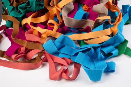 coser: la adaptación de la trenza. Foto tomada en el estudio Foto de archivo