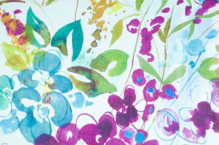 Silk fabric texture. flowers    Photography Studio