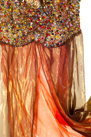 Pink brown transparent fabric. texture. robe.   Photographed in the studio